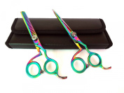 Professional Hairdressing Scissors & Thinner Hair Cutting Shears Barber Salon Styling Scissors Set 14cm Japanese Steel with Case Razor Edged