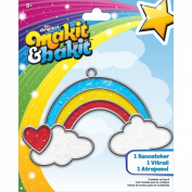 Makit & Bakit Suncatcher Kit-Rainbow With Clouds