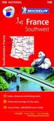 Southwestern France National Map 708