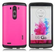 JOTO LG G3 Case - Hybrid Dual Layer Slim Armour Cover Case (Flexible TPU + Hard PC), Exclusive for LG G3 Smartphone (2014) ATT, Verizon, Sprint, T-Mobile, International and Unlocked
