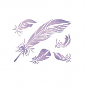 J BOUTIQUE STENCILS Feathers Stencil Reusable Stencils for DIY Home decor Craft and more