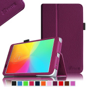 Fintie LG G Pad 7.0 Folio Case - Premium Leather With Stylus Holder for LG G Pad V400 18cm Android Tablet - Purple