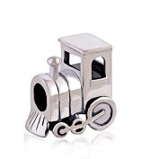 Choo Choo Train Engine Car 925 Sterling Silver Charm for Pandora European Charm Bracelets