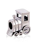 Choo Choo Train Engine Car 925 Sterling Silver Charm for Pandora European Charm Bracelets