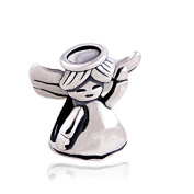 Dancing Little Angel Girl 925 Sterling Silver Charm Bead for Pandora European Charm Bracelets