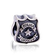 Police Officer 925 Sterling Silver Charm Bead for Pandora European Charm Bracelets
