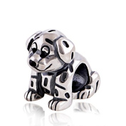 Disney Lucky The Dalmatian Puppy Dog 925 Sterling Silver Charm Bead for Pandora European Charm Bracelets