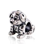 Disney Lucky The Dalmatian Puppy Dog 925 Sterling Silver Charm Bead for Pandora European Charm Bracelets