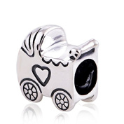 Baby Carriage 925 Sterling Silver Charm Bead for Pandora European Charm Bracelets