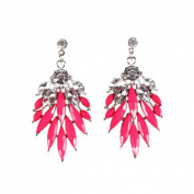 JTC Womens Stud Earring Rose Red