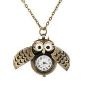 Demarkt Sweater Pendant Owl Watch Necklace Pendant Pocket Watch
