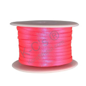 """1/8""""(3mm) Double Faced Satin Ribbon 100 Yards - Neon Pink"""