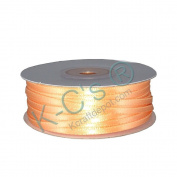 """1/8""""(3mm) Double Faced Satin Ribbon 100 Yards - Peach"""
