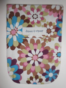 Diapees & Wipees Mod Flowers Baby Nappy and Wipes Bag