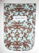 Diapees & Wipees Blue and Brown Scroll Baby Nappy and Wipes Bag