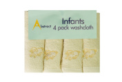 Abstract Baby Cotton Beige Sheep Terry Washcloth - 4 Pack