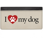 Snaptotes I Love My Dog Zip Around Wallet One Size Red Black White