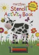 Farm Stencil Book and Pencils [With Pencils and Stencils]