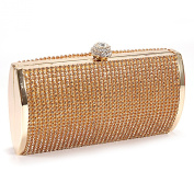 Anladia Women's Shimmering Diamante Clutch Wedding Prom Party Box