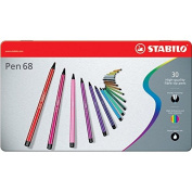 Stabilo Point 68 30-colour Metal Tin Set