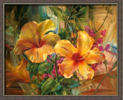Paint By Number 41cm X 50cm Kit (Framed) Beauty Yellow Flower