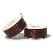 Nymo Nylon Beading Thread Size B Burgundy 72 Yards