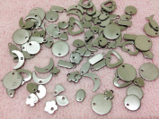 20pc Assorted Stainless Steel Stamping Blanks Circles Moons Hearts Rectangles & More Charms Pendants Jewellery Finding Supplies
