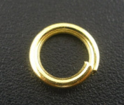 200 Pcs Gold Plated Open Jump Rings 8x1.2mm
