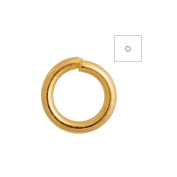 About 840pcs Zacoo Open Jump Rings Shape Round Colour Gold 4x4x0.7 Outside Diameter 4mm