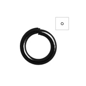 About 840pcs Zacoo Open Jump Rings Shape Round Colour Black 4x4x0.7 Outside Diameter 4mm