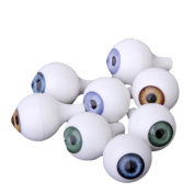 8 PCs Round Acrylic Doll Eyes Eyeballs Halloween Props 18mm