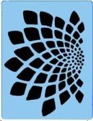 Stencileyes - Quickez/flower Illusion Design Stencil #9