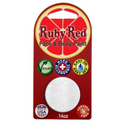 Ruby Red Face Paint - White