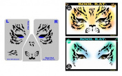 StencilEyes - Kool Kat - Tiger/Cat Face Design Stencil