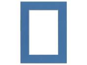 Pre-cut Photo Mat Board by Accent Design White Core 30cm x 41cm . for 20cm x 30cm . Photo Bay Blue