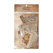 Thrift Shop Ephemera Pack by Tim Holtz Idea-ology, 54 Pieces, Assorted Colours/Designs, TH93114