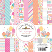 Doodlebug Sugar Shoppe 24 Sheets Paper Pad, 15cm by 15cm , Double-Sided