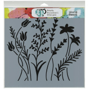 Crafters Workshop Template, 30cm by 30cm , Wildflowers