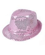 Solid Colour Sequins Fedora Hat