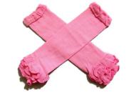 KWC - Solid Pink Ruffles Baby Leg Warmer/ Leggings
