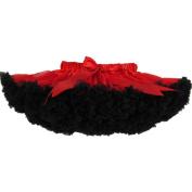 Buenos Ninos Girl's Dance Tutus Chiffon Pettiskirt Size 3-4T Red with Black ruffle