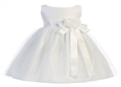 Sweet Kids Baby-Girls Vintage Satin and Tulle Flower Girl Pageant Dress
