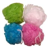 Daylee Naturals Mesh Bath Pouffe Sponge 4 Pack