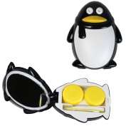 JAVOedge Penguin Contact Lens Travel Kit, Black