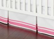 Safe Sleep Pink Crib Skirt