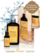 Best Leave-In Conditioner & Hair Serum Treatment Kit - Natural Moroccan Argan Daily Hair Moisturiser Relaxer Nourishing Cream + Argan Oil Serum Nourishment Therapy for Normal to Dry Hair ★ Nourish, Moisturise, Protect and Promote Hair Shine Gloss ★ ..