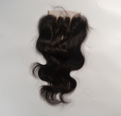 3 Part Closure 36cm Body Wave Virgin Malaysian Hair 120%density Lace Closure Bleached Knots