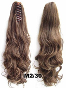 A.H Long Curly Clip On Claw Hair Extension Ponytail Layered Hairpiece #M2/30
