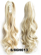 A.H New Long Clip In Curly Pony Tail Synthetic Human Made Hair Extensions Wigs #6/86H613