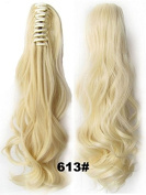 A.H Easy Hair DIY Design Ponytail Claw Clip Hair Extension Bleach Blonde #613 Hairpiece